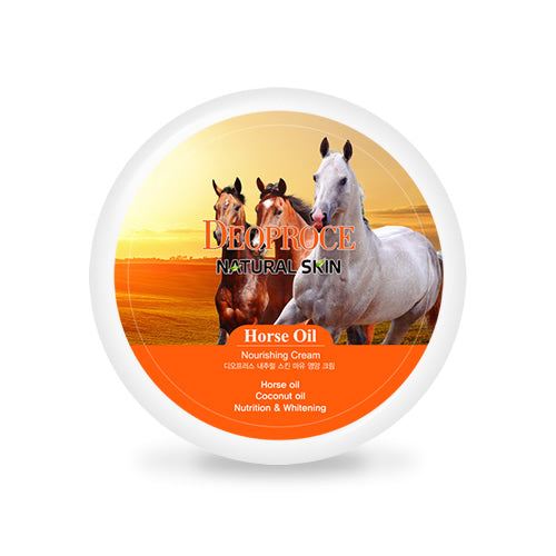 DEOPROCE NATURAL SKIN HORSE OIL NOURISHING CREAM 100G