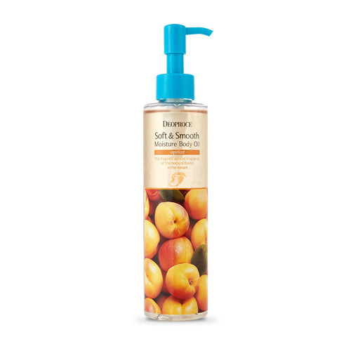 DEOPROCE SOFT & SMOOTH MOISTURE BODY OIL - APRICOT 200ml