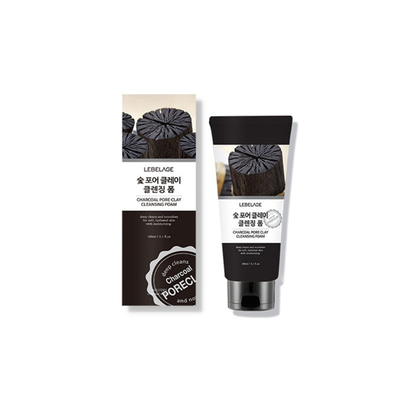 LEBELAGE CHARCOAL PORE CLAY CLEANSING FOAM