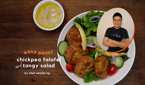 FRIDAY FOODIE FEATURE: Easy Chickpea Falafel and Tangy Salad by Chef Amelia Ng