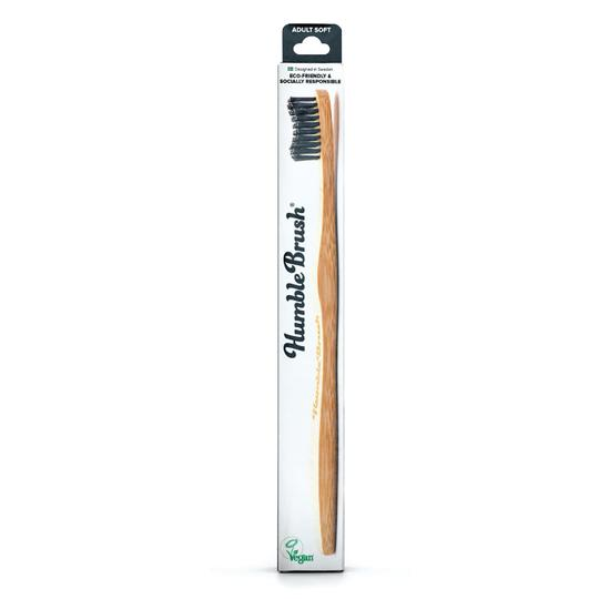 Humble Brush Adult - Black, Soft Bristles - RE:HEALTH
