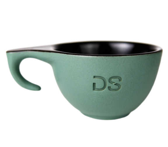 "Ceramic green ""DS"" cup - Dropshot Coffee"