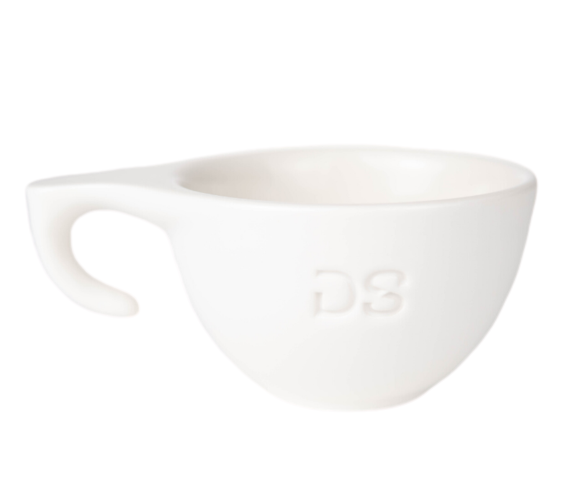 "Ceramic white ""DS"" cup - Dropshot Coffee"