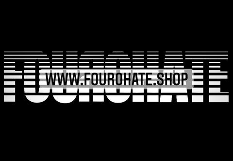 """Official FOUROHATE"" Car Decal"
