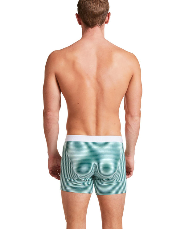 "Boxer Brief ""Classy Claus"" Mint/Green Stripes"