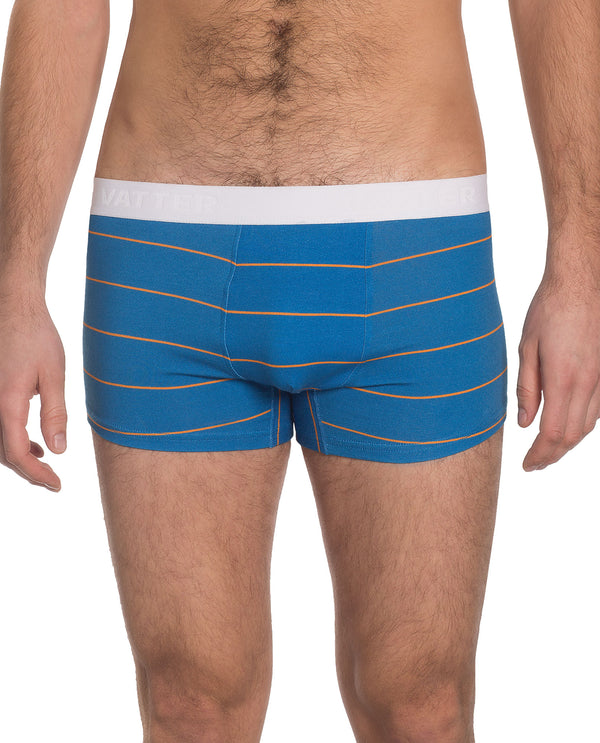 "Trunk Short ""Tight Tim"" Blue/Orange Stripes"