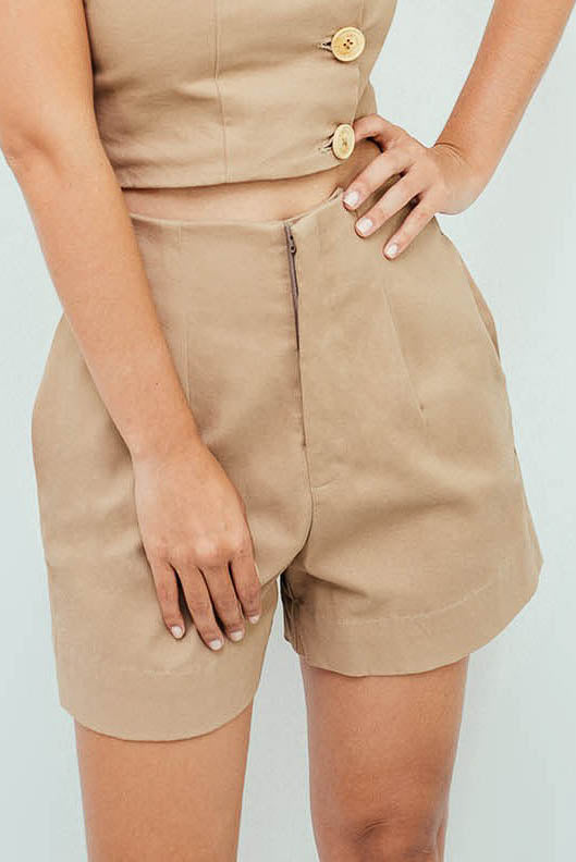 pantalón short plain basic - LAETITIA