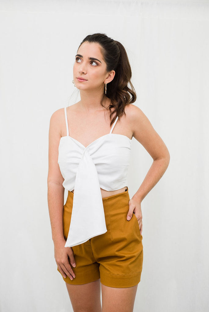 Crop top fruncido - LAETITIA