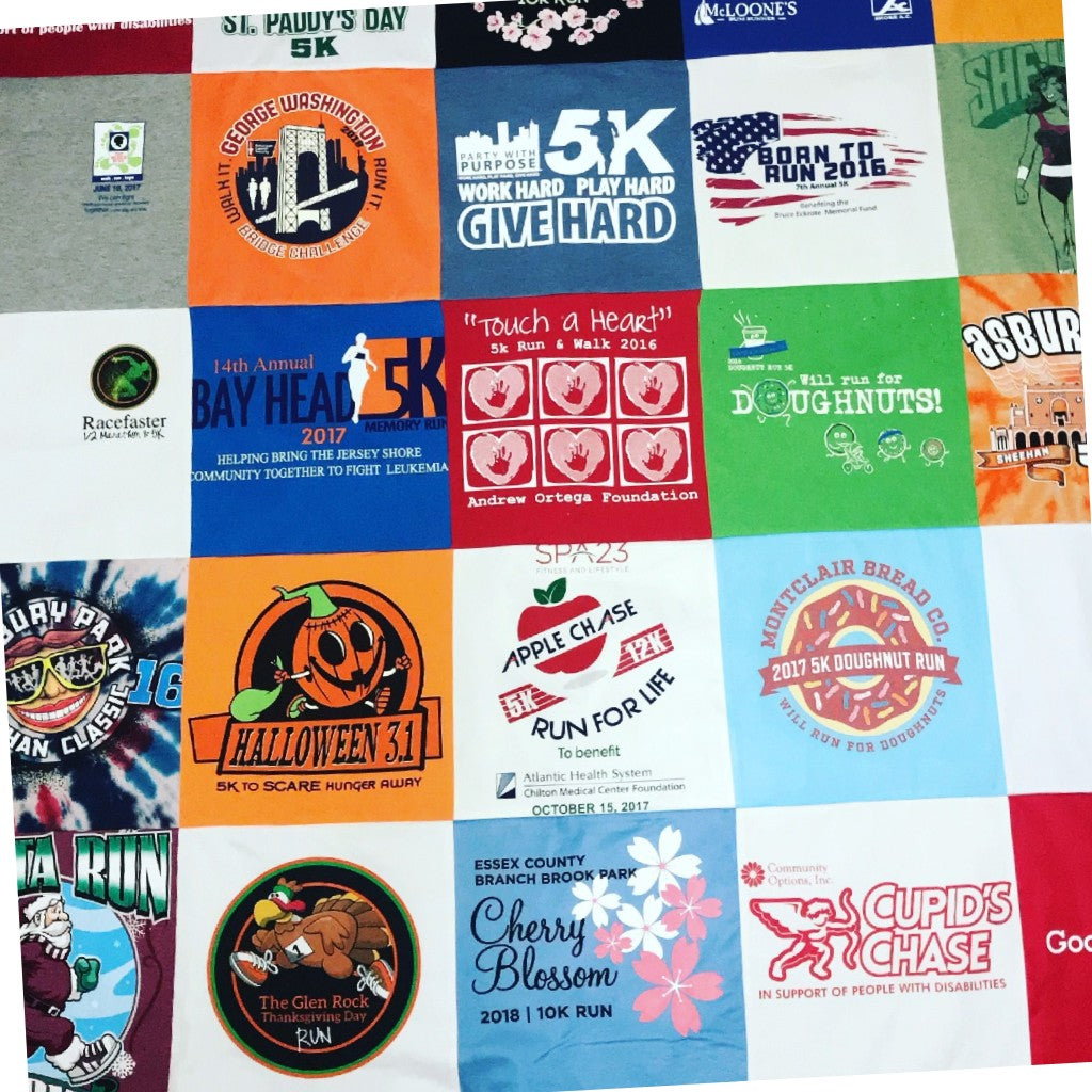 T-Shirt Blankets from Old Race T-Shirts