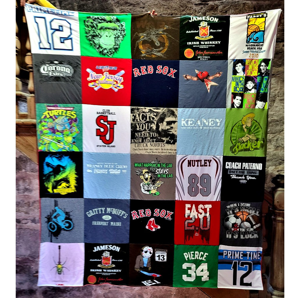 How to Create a High School T-Shirt Blanket