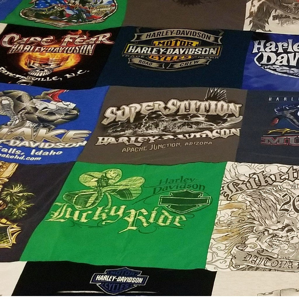 Turn Old Motorcycle T-Shirts into a T-Shirt Blanket
