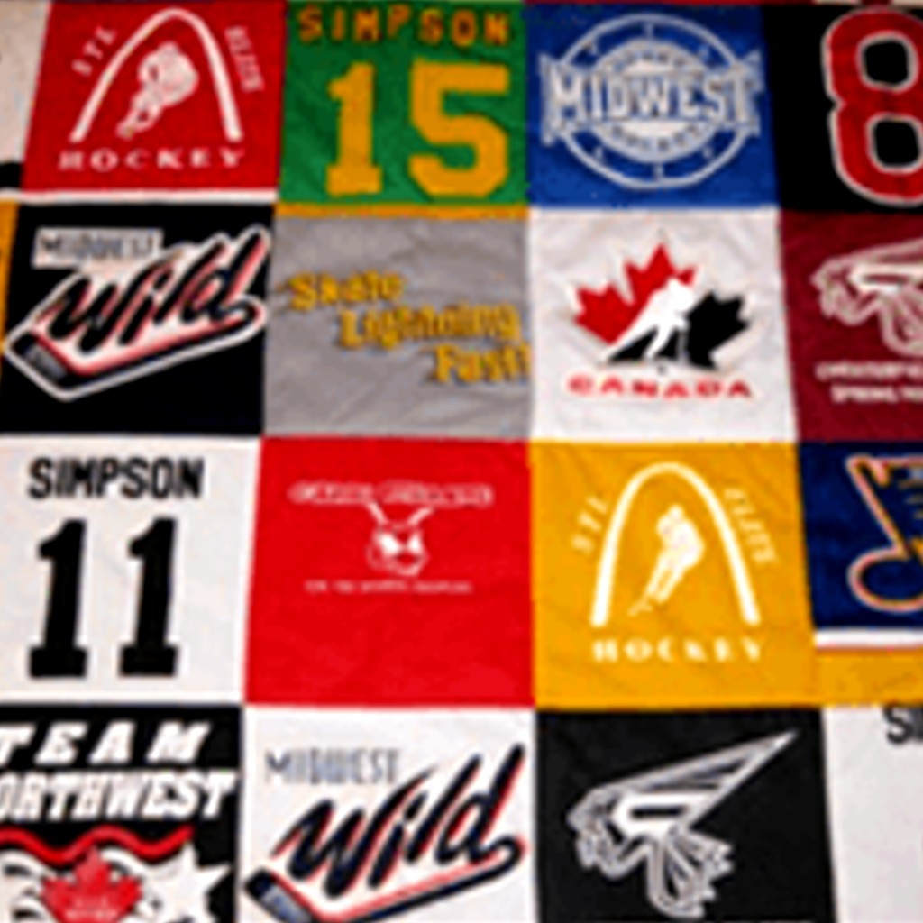 Create a T-Shirt Blanket from Old Sports Jerseys