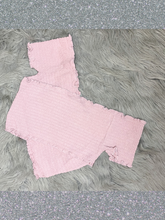 Load image into Gallery viewer, mauve pink blush bandage style crop top shirt blouse | shop women's clothing clothes apparel gifts accessories online or in store at boerne la te da boutique | a favorite of locals and san antonio visitors too