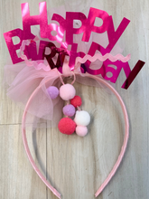 Load image into Gallery viewer, Happy Birthday Headband