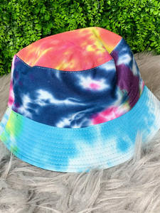 blue pink green tie-dye bucket hat fishing hat sun hat | shop women's clothing clothes apparel gifts accessories online or in store at boerne la te da boutique | a favorite of locals and san antonio visitors too