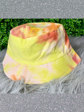 Load image into Gallery viewer, yellow orange tie-dye bucket hat fishing hat sun hat | shop women's clothing clothes apparel gifts accessories online or in store at boerne la te da boutique | a favorite of locals and san antonio visitors too