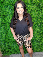 Load image into Gallery viewer, brown leopard print bike shorts | shop women's clothing clothes apparel online or in store boerne la te da boutique | a favorite of locals and san antonio visitors too
