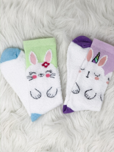 Load image into Gallery viewer, Fuzzy Bunny Socks for Hoppin' Feet