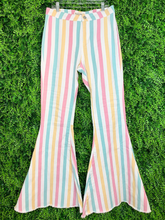 Load image into Gallery viewer, striped pastel bell bottom pants jeans | shop women's clothing clothes apparel gifts accessories online or in store at boerne la te da boutique | a favorite of locals and san antonio visitors too