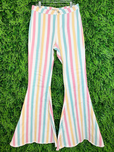 striped pastel bell bottom pants jeans | shop women's clothing clothes apparel gifts accessories online or in store at boerne la te da boutique | a favorite of locals and san antonio visitors too