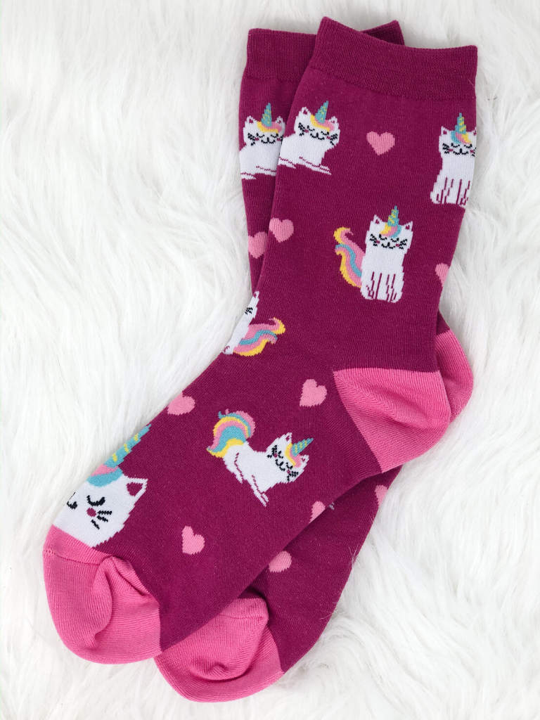 Caticorn Women's Crew Socks