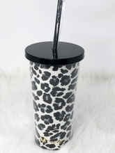 Load image into Gallery viewer, Snow Leopard Glitter Tumbler