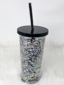 Starry Night Glitter Tumbler