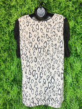 Load image into Gallery viewer, leopard lace sleeve top | shop women's and girls' clothing clothes apparel gifts accessories jewelry online or in store at boerne la te da boutique | a favorite of locals and san antonio visitors too | best boerne boutiques