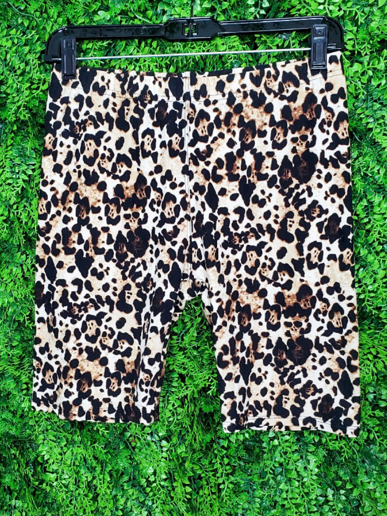tan leopard print bike shorts bottoms | shop women's clothing clothes apparel online or in store boerne la te da boutique | a favorite of locals and san antonio visitors too