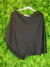 Load image into Gallery viewer, black one shoulder top shirt blouse | fall winter holiday fashion | shop women's clothing clothes apparel gifts accessories jewelry online or in store at boerne la te da boutique | a favorite of locals and san antonio visitors too | best boerne boutiques