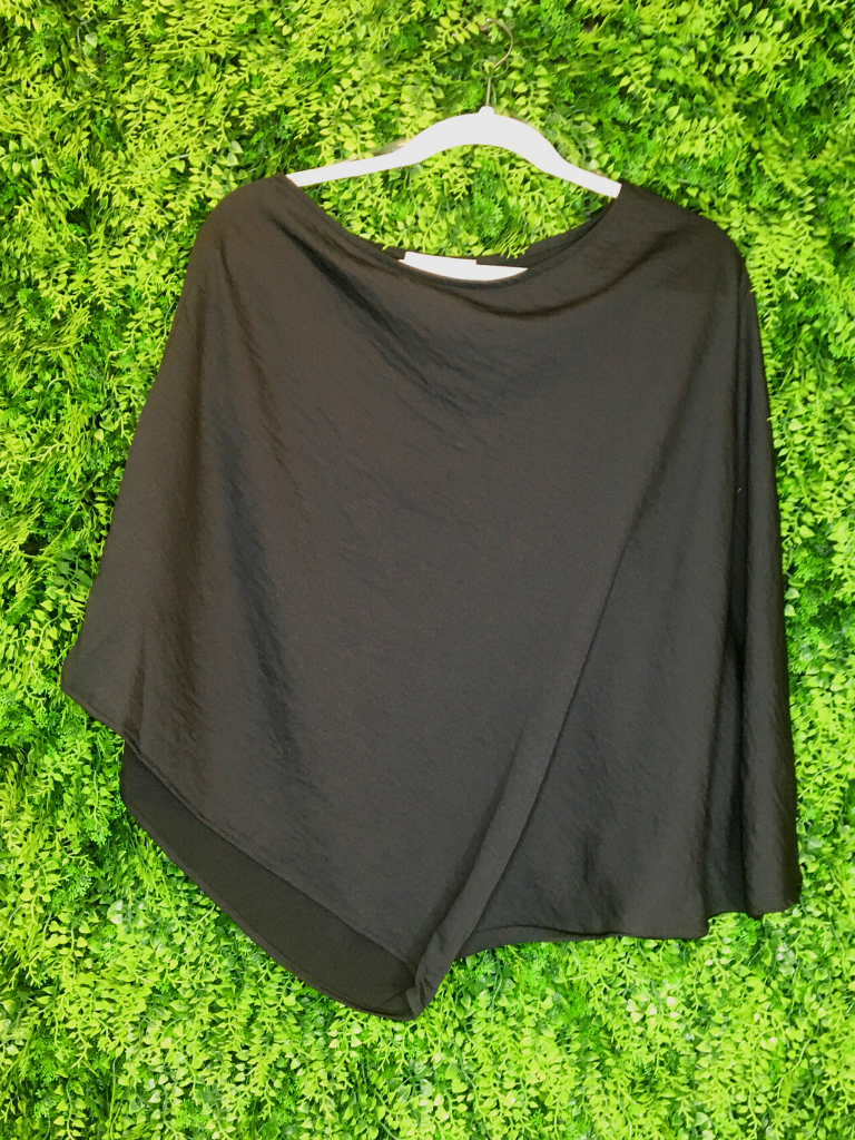 black one shoulder top shirt blouse | fall winter holiday fashion | shop women's clothing clothes apparel gifts accessories jewelry online or in store at boerne la te da boutique | a favorite of locals and san antonio visitors too | best boerne boutiques