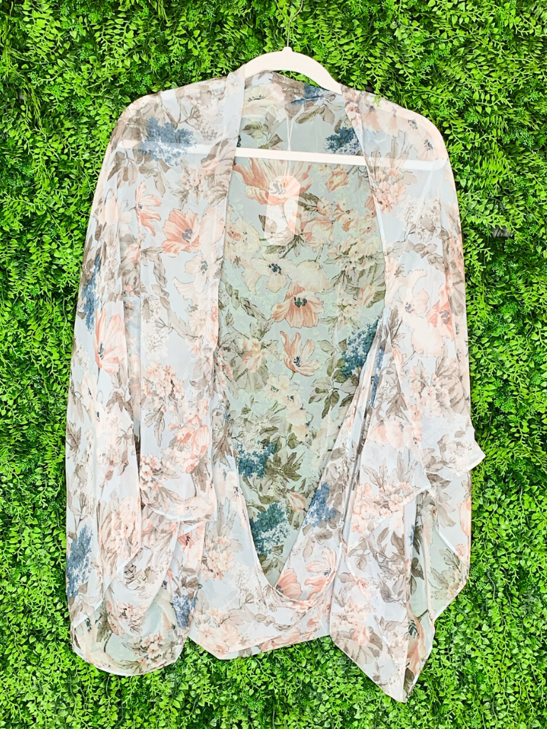 floral kimono top shirt blouse cover up | shop women's clothing clothes apparel gifts accessories online or in store at boerne la te da boutique | a favorite of locals and san antonio visitors too