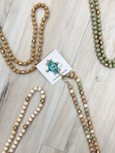 Load image into Gallery viewer, Natural Wood Bead Necklace - 4 Colors!