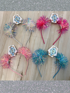 Iridescent Pom Pom Headband - 4 Colors!