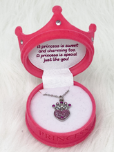 Load image into Gallery viewer, Boxed Princess Pendant Necklace - 2 Colors!