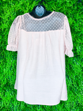 Load image into Gallery viewer, puff sleeve lace top | two colors | shop women's and girls' clothing clothes apparel gifts accessories jewelry online or in store at boerne la te da boutique | a favorite of locals and san antonio visitors too | best boerne boutiques