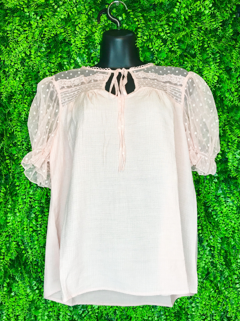 puff sleeve lace top | two colors | shop women's and girls' clothing clothes apparel gifts accessories jewelry online or in store at boerne la te da boutique | a favorite of locals and san antonio visitors too | best boerne boutiques
