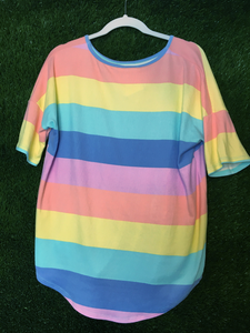 Rainbow Stripe Top
