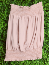 Load image into Gallery viewer, pink blush mauve cream beige ribbed tube top shirt blouse | shop women's clothing clothes apparel gifts accessories online or in store at boerne la te da boutique | a favorite of locals and san antonio visitors too