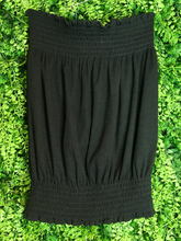 Load image into Gallery viewer, black ribbed tube top shirt blouse | shop women's clothing clothes apparel gifts accessories online or in store at boerne la te da boutique | a favorite of locals and san antonio visitors too