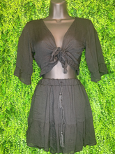 Load image into Gallery viewer, shop women's and girls' clothing clothes apparel gifts accessories jewelry online or in store at boerne la te da boutique | a favorite of locals and san antonio visitors too | best boerne boutiques | skirt crop set black