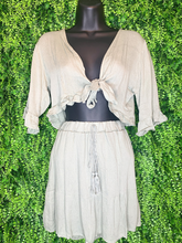Load image into Gallery viewer, shop women's and girls' clothing clothes apparel gifts accessories jewelry online or in store at boerne la te da boutique | a favorite of locals and san antonio visitors too | best boerne boutiques | skirt crop set black white