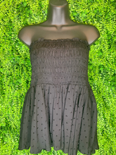 Load image into Gallery viewer, shop women's and girls' clothing clothes apparel gifts accessories jewelry online or in store at boerne la te da boutique | a favorite of locals and san antonio visitors too | best boerne boutiques | smocked skirt top black