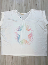 Load image into Gallery viewer, Retro Vibes Rainbow Star Tee