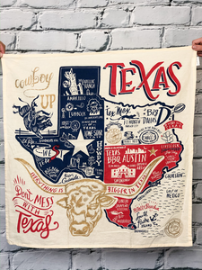 Everything Texas Dish Towel