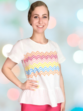 Load image into Gallery viewer, Zig Zag Embroidered Top