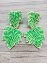 Load image into Gallery viewer, Tropical Leaf Earrings - 2 Colors!