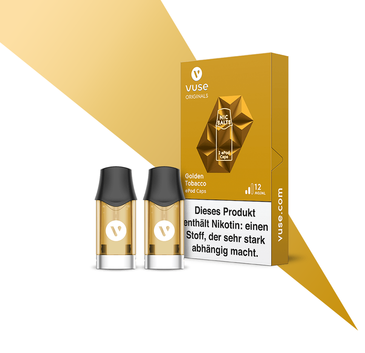 Vuse ePod Caps Golden Tobacco Nic Salts