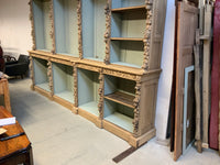 Antique Oak carved open bookcase