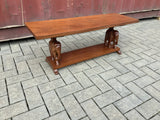 Vintage small elephant side table